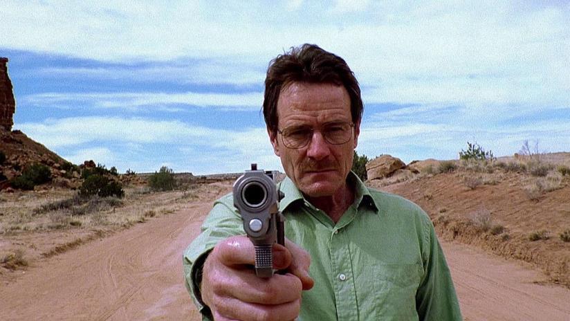 In primo piano Walter White di Breaking Bad
