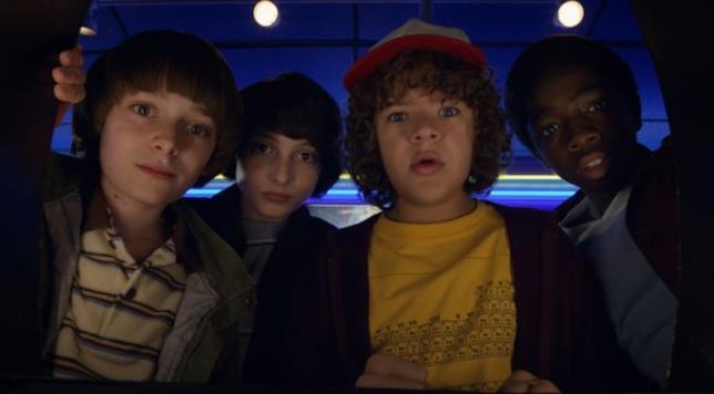 I ragazzi di Hawkins in una scena della serie