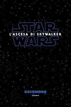 Logo di Star Wars: L'Ascesa di Skywalker su sfondo della galassia