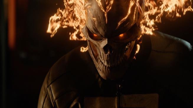 Una scena di Ghost Rider in Agents of SHIELD
