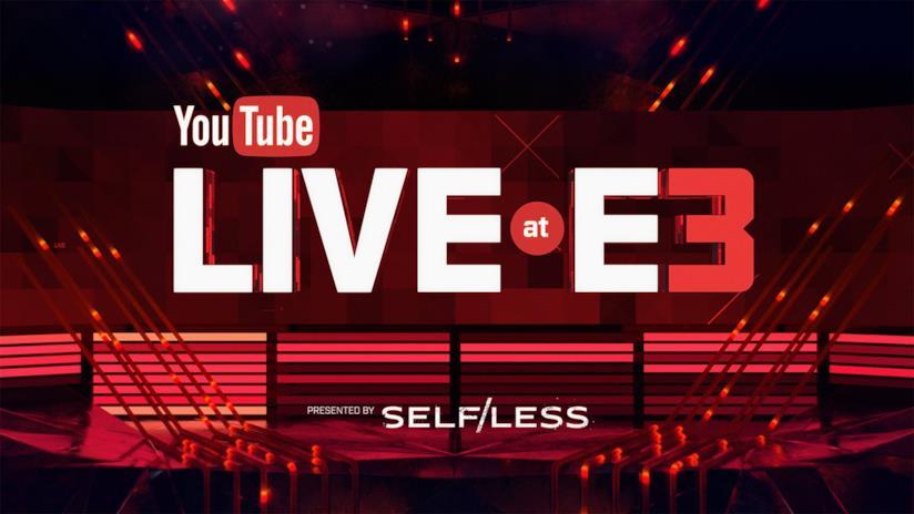 Il logo ufficiale di YouTube Live at E3