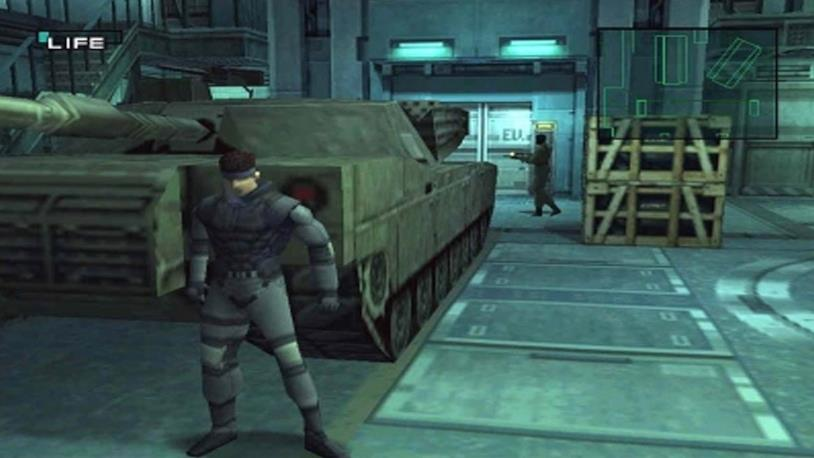 Solid Snake in uno screenshot dal primo Metal Gear Solid