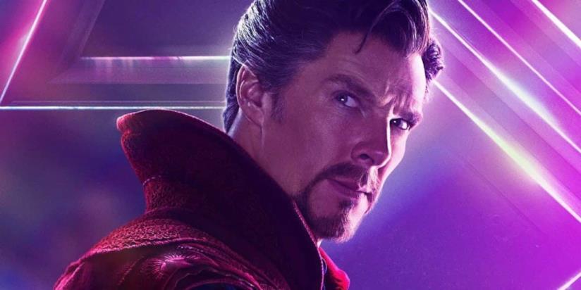 Un primo piano di Doctor Strange nel poster di Avengers: Infinity War