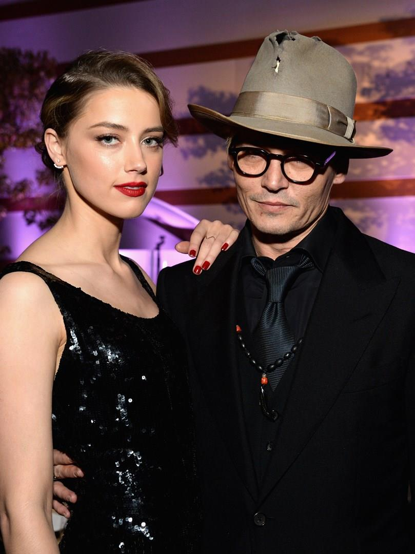 Amber Heard e Johnny Depp a un evento