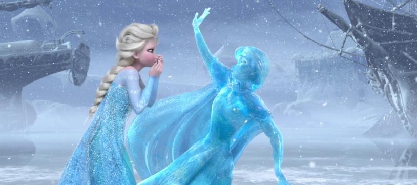 Una scena di Frozen con Elsa