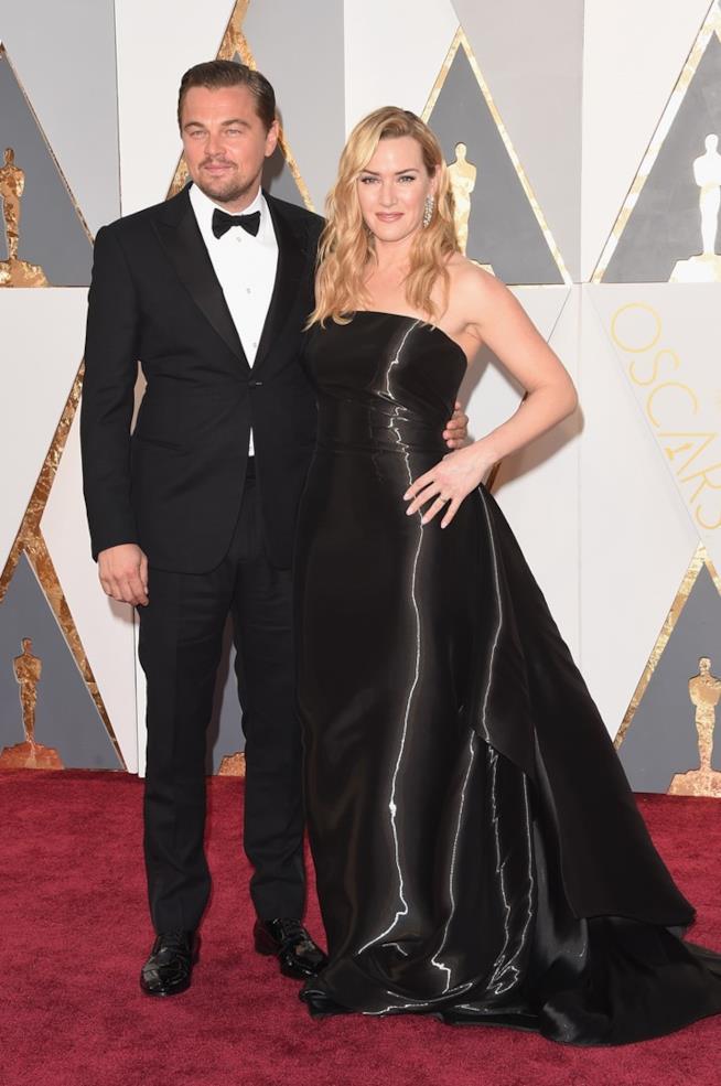 Leo DiCaprio e Kate Winslet agli Oscar
