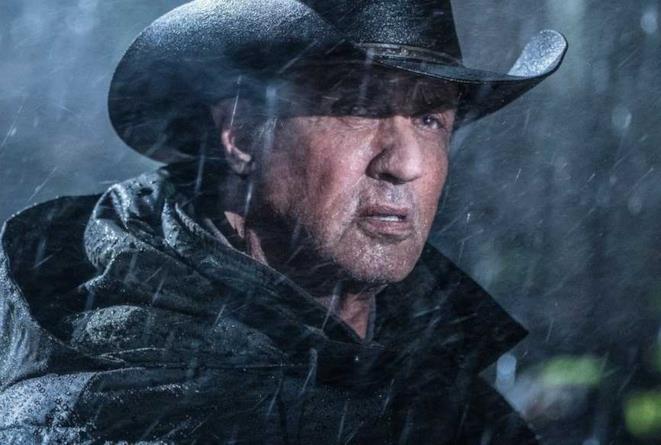 Sylvester Stallone in uno scatto dal set di Rambo 5