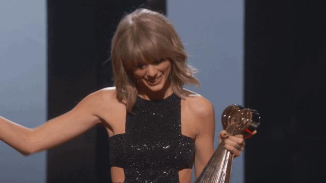 Una Taylor Swift particolarmente felice!