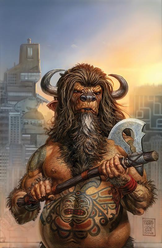 La copertina del fumetto di American Gods di Neil Gaiman