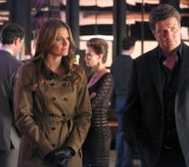 Una scena di Castle con Richard Castle e Kate Beckett