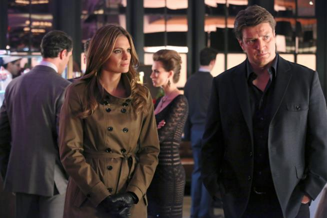Una scena di Castle con Richard Castle e Kate Beckett