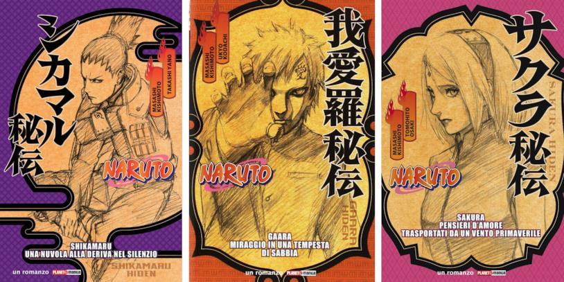 Naruto Hiden: le cover dei volumi su Shikamaru, Gaara e Sakura