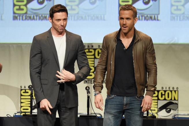 I due colleghi e amici Hugh Jackman e Ryan Reynolds