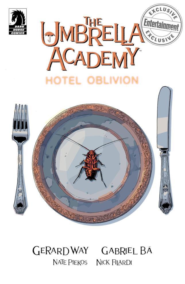 Umbrella Academy: Hotel Oblivion, la copertina del primo numero
