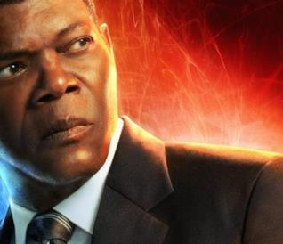 Character poster di Nick Fury in Captain Marvel