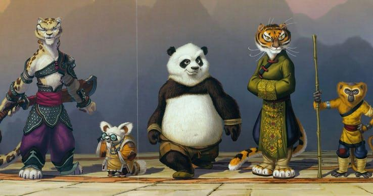 Concept Art: Kung Fu Panda e il suo team