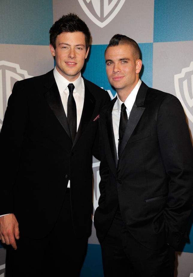Cory Monteith e Mark Salling ai tempi in cui recitavano insieme in Glee