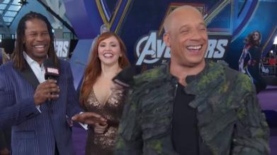 Avengers: Endgame, i momenti più divertenti dal red (o meglio, purple) carpet