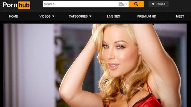 Pornhub: homepage del sito web
