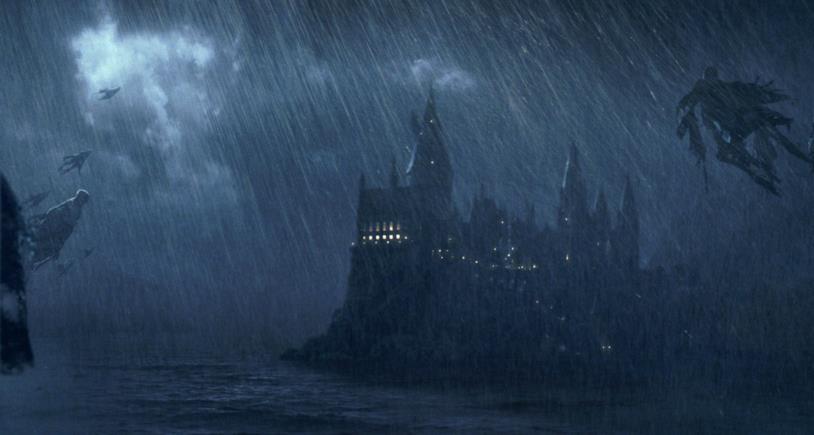 Una foto della prigione di Azkaban e dei Dissennatori