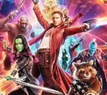 Un primo piano dei Guardiani della Galassia nel poster ufficiale del Vol. 2