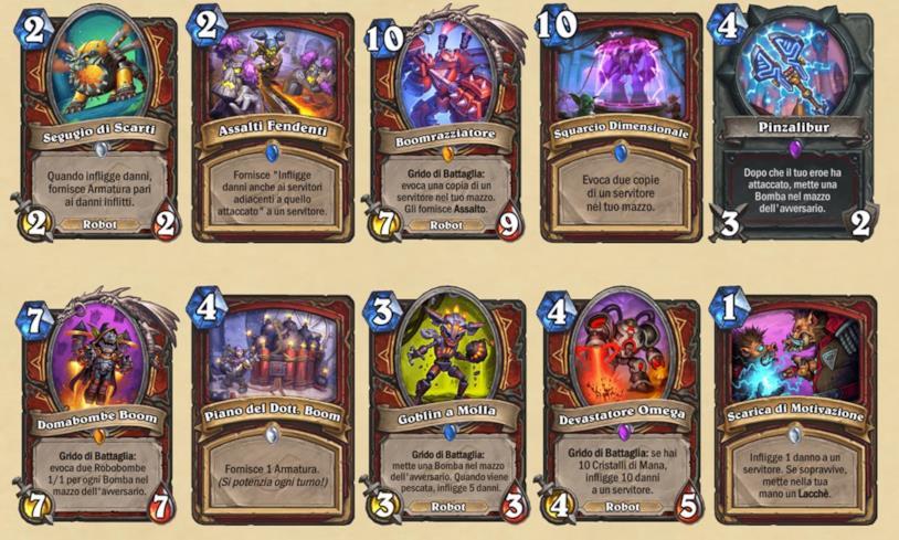 Tutte le carte Guerriero dell'espansione L'Ascesa delle Ombre di Hearthstone