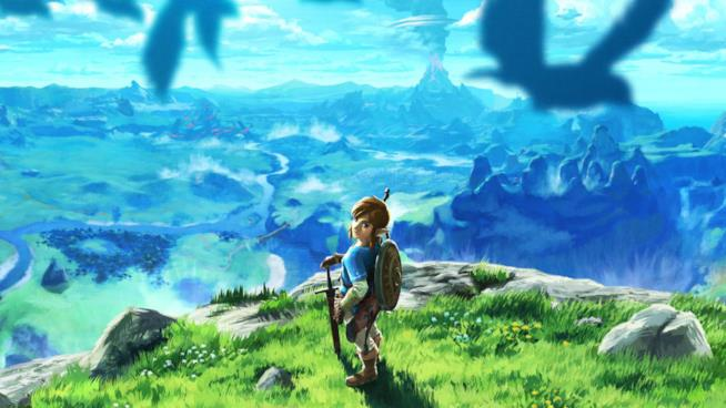 Link osserva l'orizzonte in The Legend of Zelda: Breath of the Wild