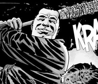 Negan e la sua mazza da baseball Lucille