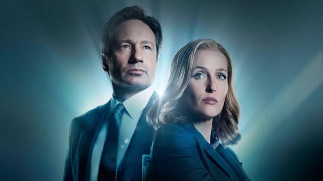 Un'immagine promozionale della miniserie di 10 episodi di X-Files dello scorso anno