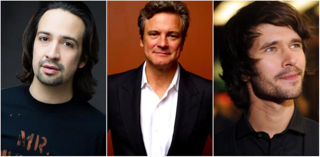 Lin-Manuel Mirand, Colin Firth e Ben Whishaw,