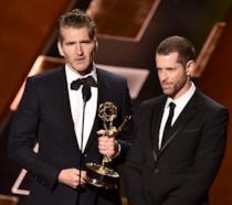 David Benioff e D. B. Weiss ai 67° Primetime Emmy Awards