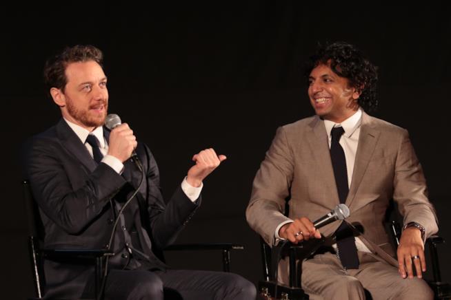James McAvoy e il regista M. Night Shyamalan