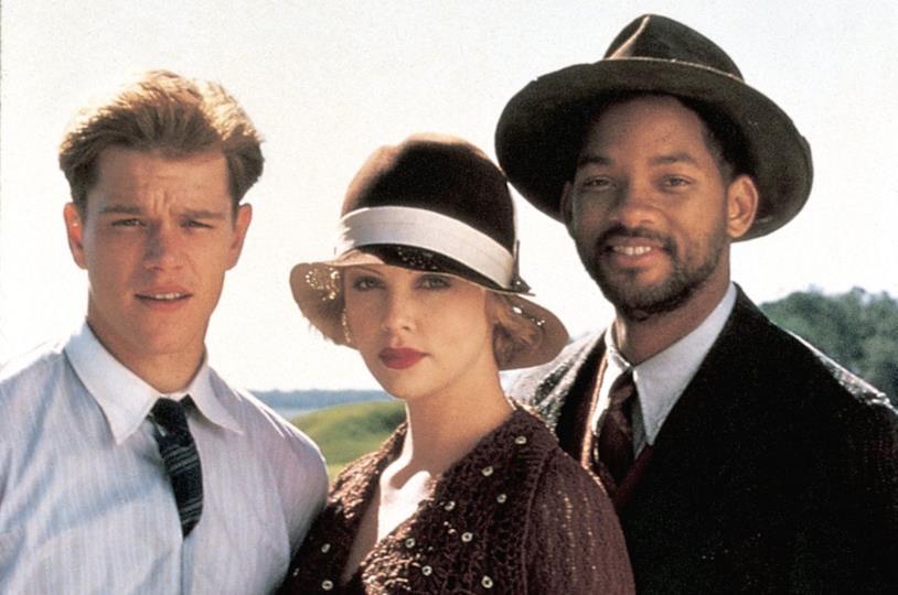 Charlize Theron tra Matt Damon e Will Smith nel film La leggenda di Bagger Vance