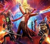 Un primo piano dei protagonisti di Guardiani della Galassia Vol. 2 nel poster del film