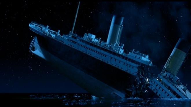 L'affondamento del Titanic nel film di James Cameron