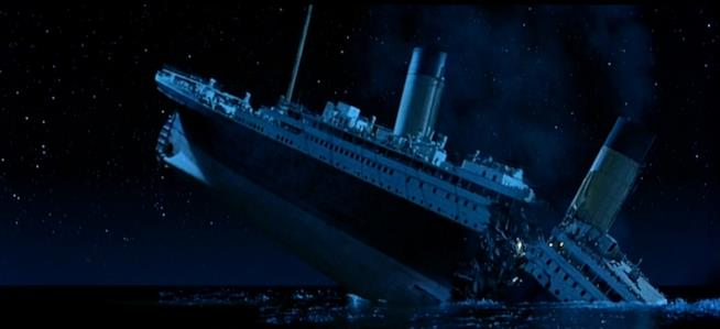 L'affondamento del Titanic nel film di James Cameron