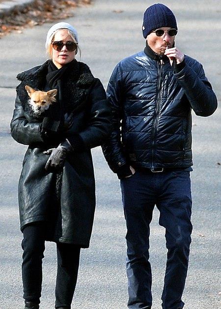 Jennifer Lawrence e Darren Aronofsky in giro a Capodanno