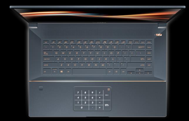 Immagine stampa che mostra il NumberPad del SuperBook S di ASUS