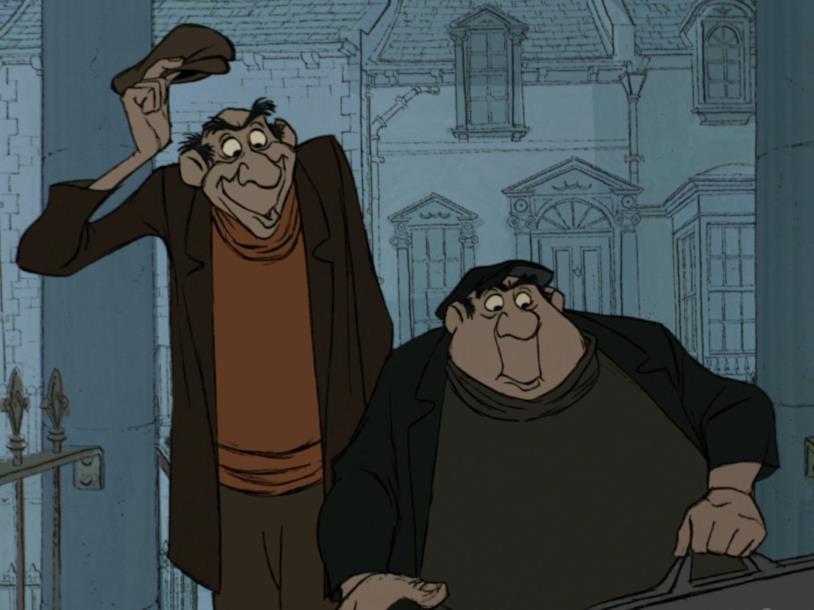 I due scagnozzi di Crudelia De Mon nel classico Disney