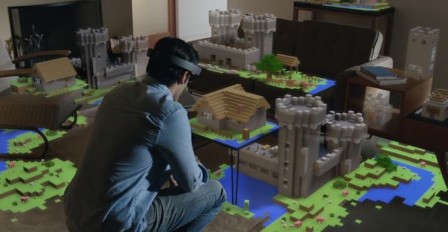 Un'immagine promozionale di Microsoft Hololens