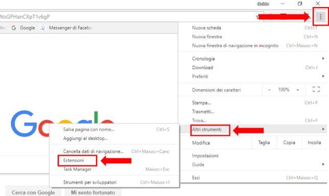 Tutorial su come aggiungere un'estensione del browser Chrome
