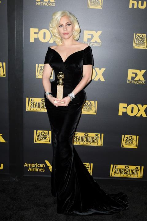 Lady Gaga ai Gloden Globes