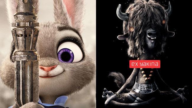 I poster di Star Wars ed Ex Machina nel mondo di Zootropolis