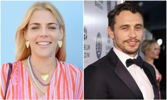 Busy Philipps e James Franco in un collage