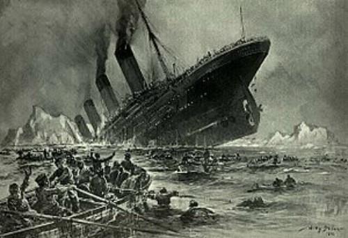 Il Titanic affonda nelle acque
