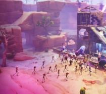 Un attacco zombie in Fortnite
