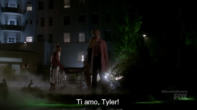Una scena di Scream Queens 2x03, Mano Assassina