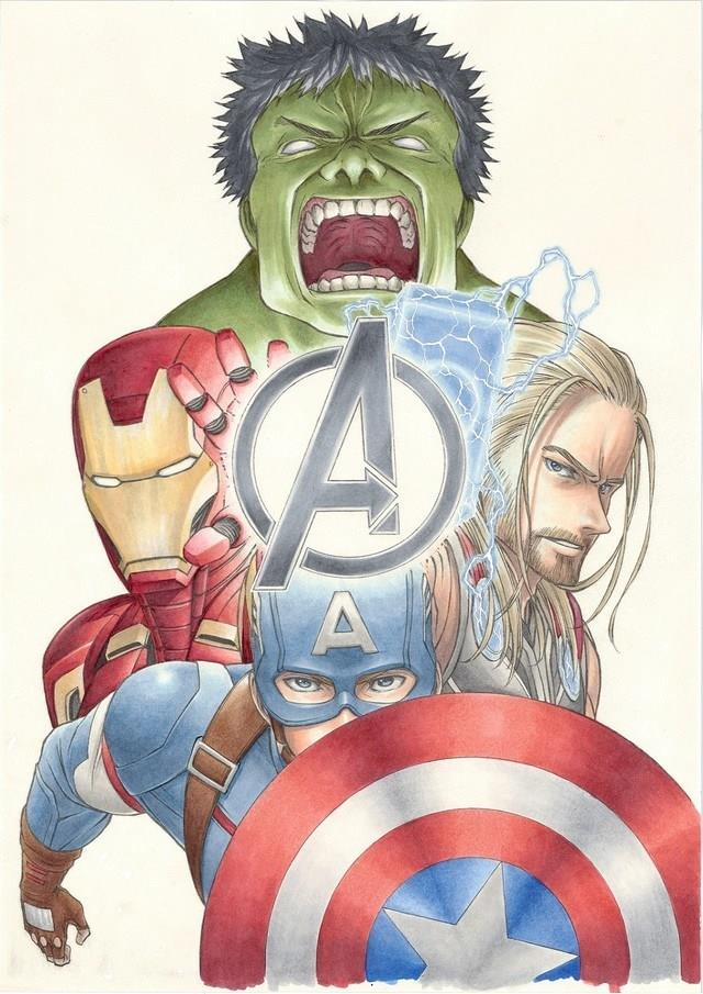 Hulk, Thor, Captain America Iron Man Manga