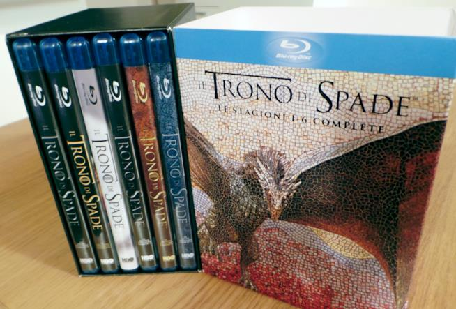 Game of Thrones, cofanetto stagioni 1-6 con dischi