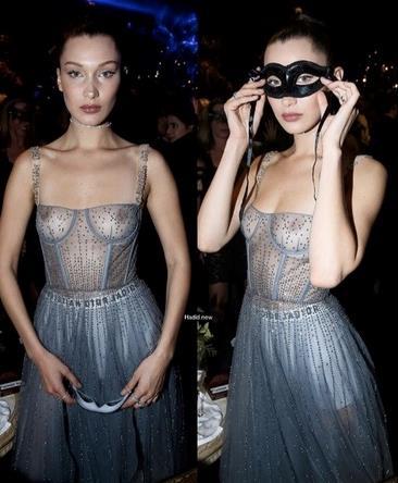 Il look estremo di Bella Hadid all'afterparty Dior